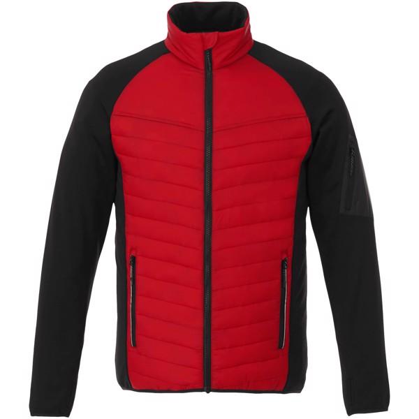 Oteplená bunda Banff - Červená s efektem námrazy / XL