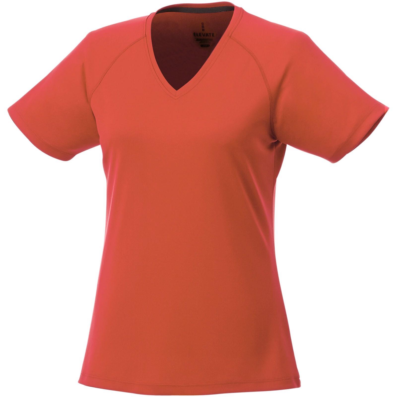 Amery dámské cool fit v-neck tričko s krátkým rukávem - 0ranžová / XL