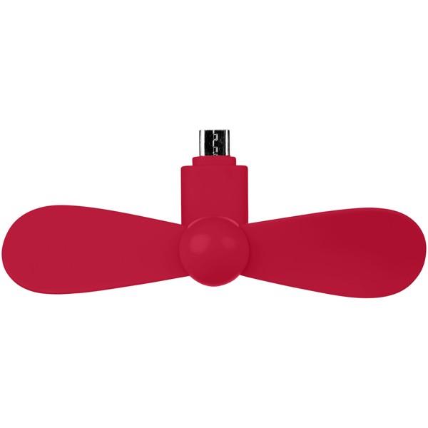 Micro USB Fan Airing - Červená s efektem námrazy