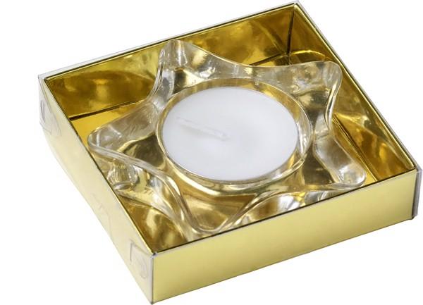 Glass tea light holder - Gold
