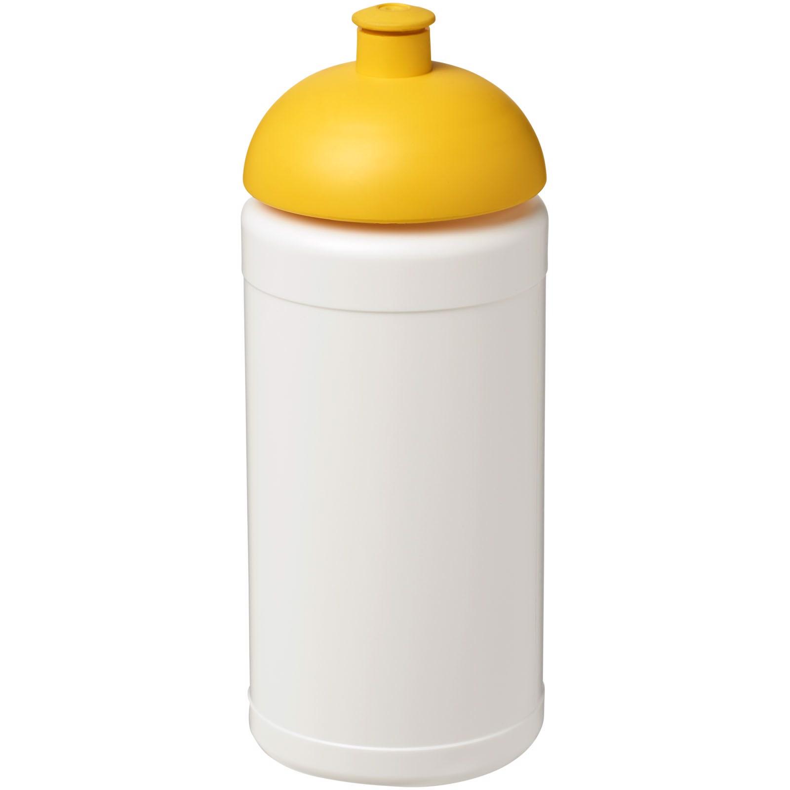 Baseline® Plus 500 ml Sportflasche mit Stülpdeckel - Weiss / Gelb