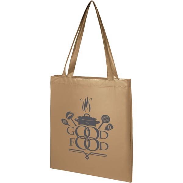 Salvador lesklá nákupní taška - Zlatá