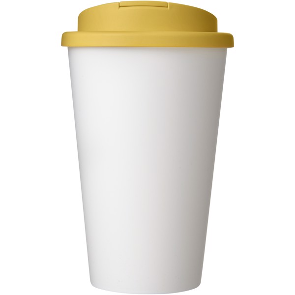 Americano® 350 ml tumbler with spill-proof lid - White / Yellow