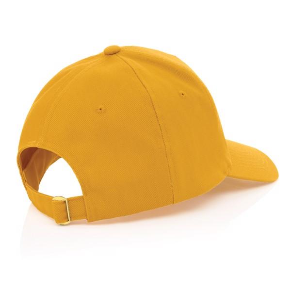 Gorra de algodón reciclado Impact 280gr con trazador AWARE™ - Amarillo
