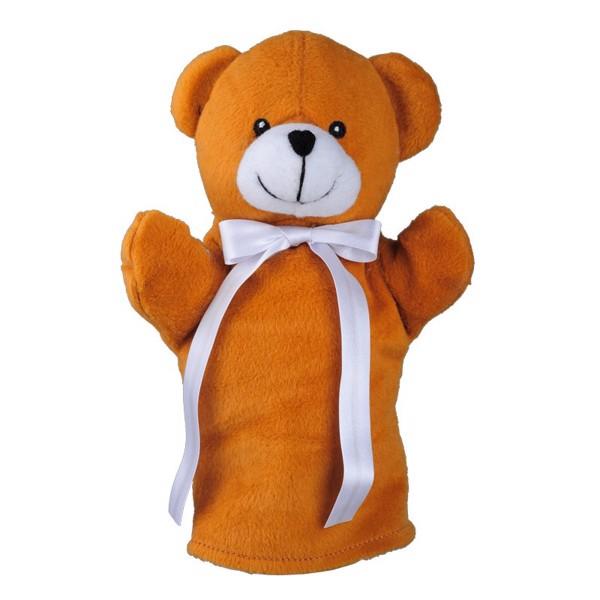 Pacynka Teddy Bear - Brązowy / Biały