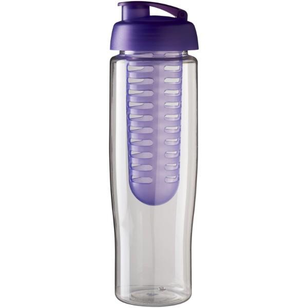H2O Tempo® 700 ml flip lid sport bottle & infuser - Transparent / Purple
