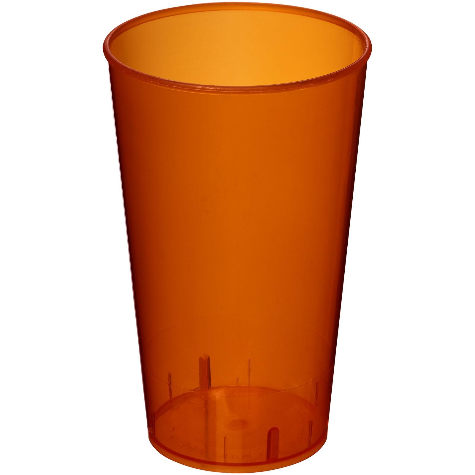 Plastový kelímek Arena 375 ml - Transparentní oranžová