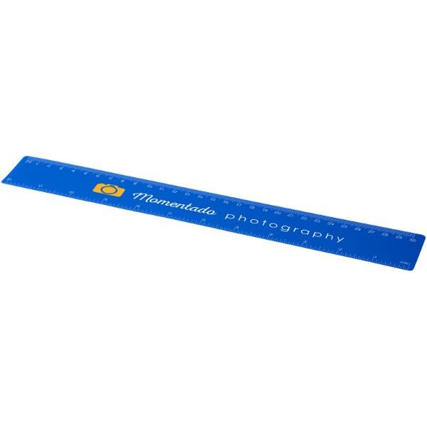 Rothko 30 cm plastic ruler - Blue