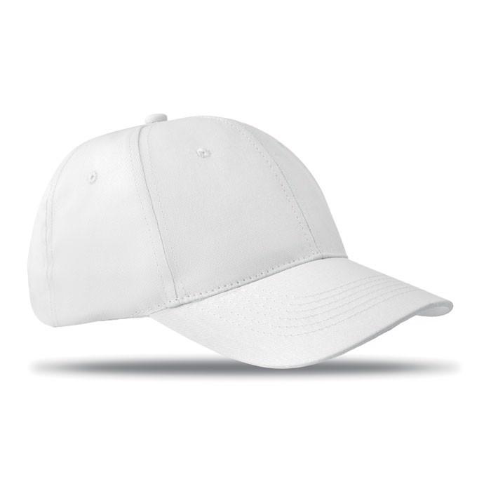 6 paneles baseball sapka Basie - fehér-TESZT