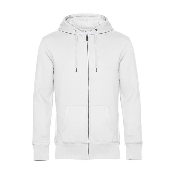 King Zipped Hood - Branco / XL