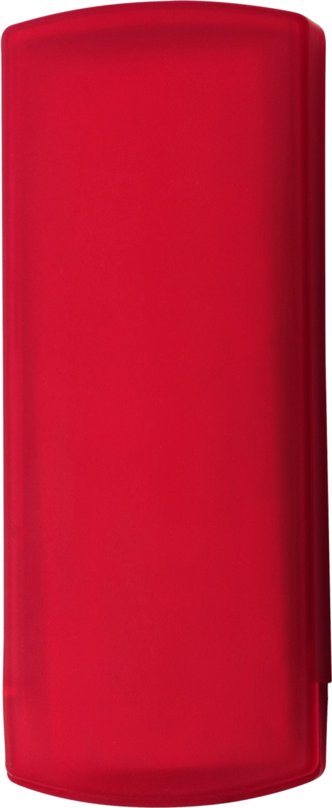 Plastic case with plasters - Red
