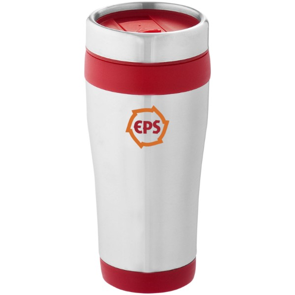 Elwood 410 ml insulated tumbler - Silver / Red