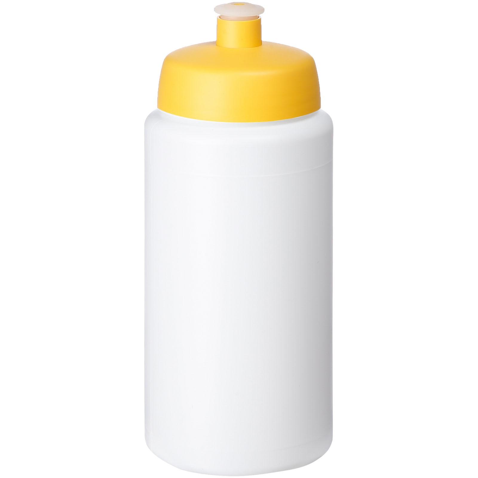 Baseline® Plus grip 500 ml sports lid sport bottle - White / Yellow