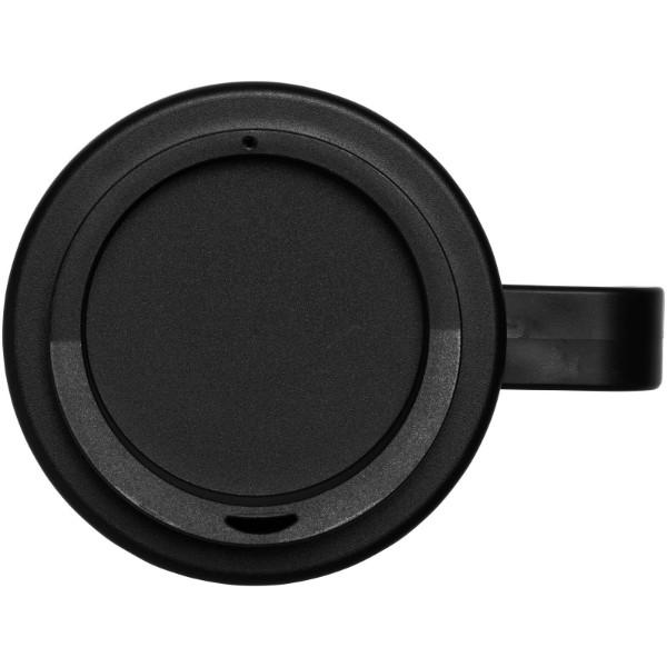 Brite-Americano® grande 350 ml insulated mug - Solid black