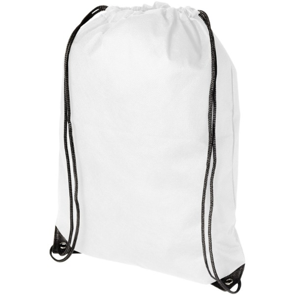 Evergreen non-woven drawstring backpack - White