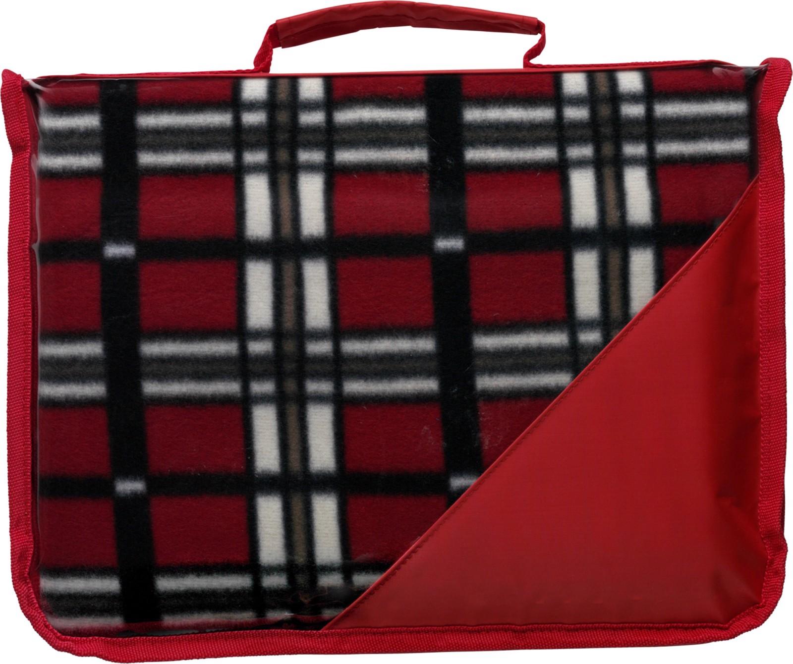 Fleece (150 gr/m²) blanket in pouch - Red