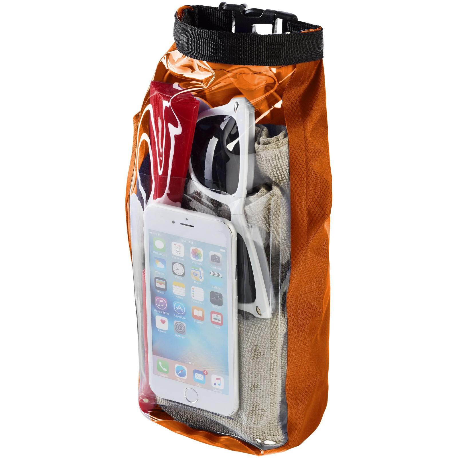 Nepromokavý vak Tourist, 2 l, outdoorový styl s pouzdrem na telefon - 0ranžová