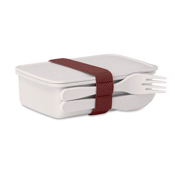 Lunch box in bamboo fibre /PP Astoriabox - White