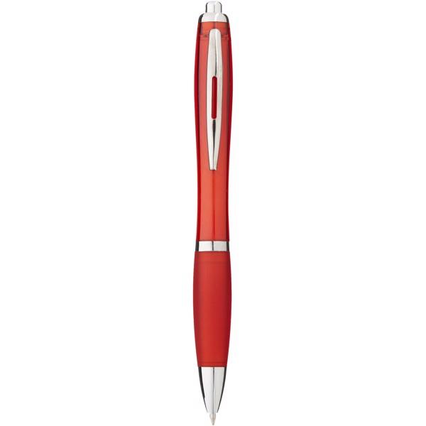 Barevné kuličkové pero Nash s barevným úchopem - Červená s efektem námrazy