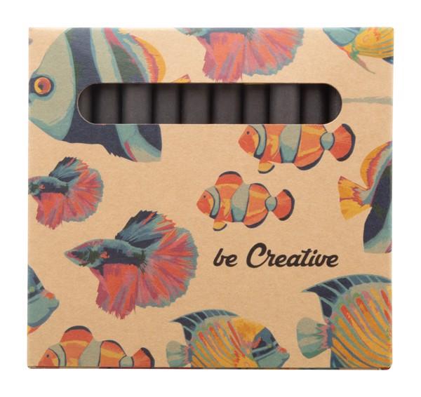 Custom 12 Pc Crayon Set Craxon 12 Eco - Natural