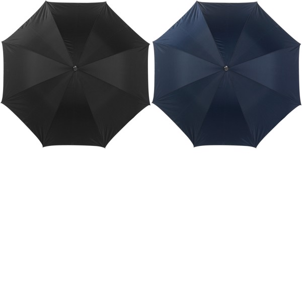 Polyester (210T) umbrella - Black / Silver