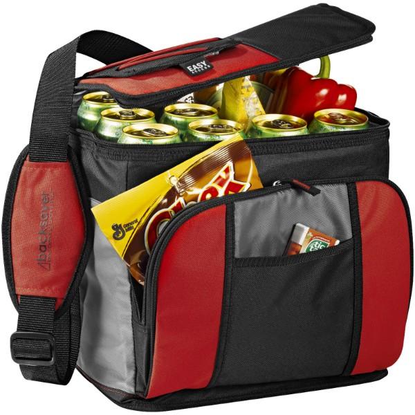 Chladicí taška Easy-access na 24 plechovek - Červená s efektem námrazy / Černá / Šedá