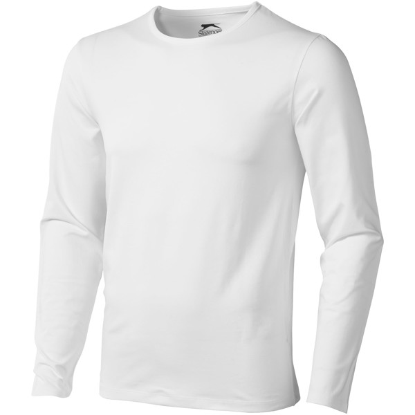 Curve long sleeve men's t-shirt - White / XXL
