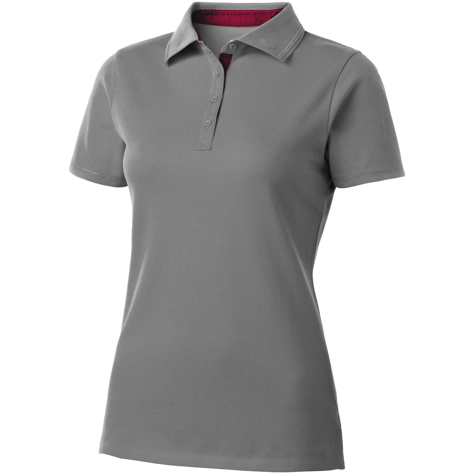 Hacker Poloshirt für Damen - Grau / Rot / XL