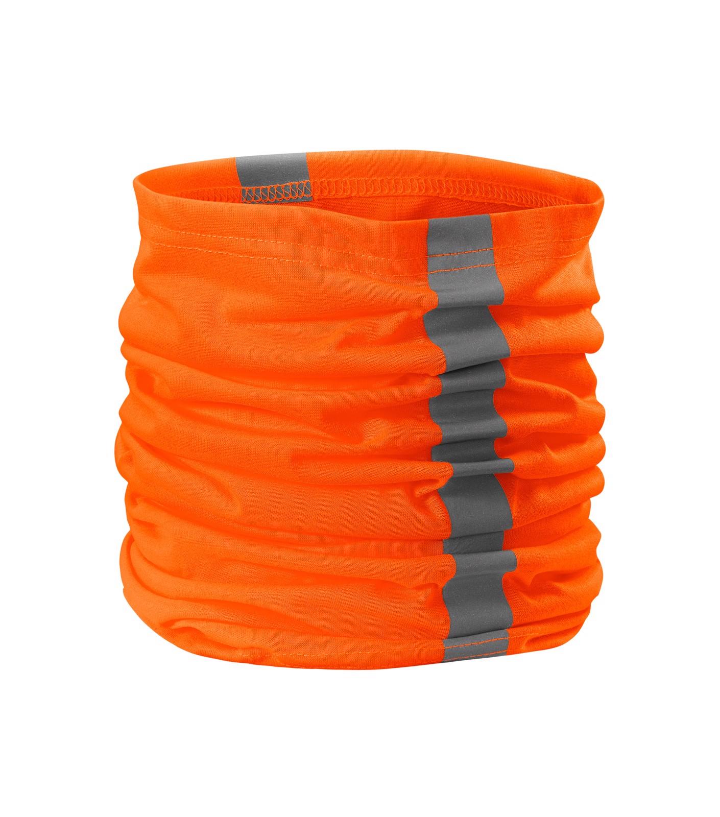 Šátek unisex Rimeck HV Twister - Fluorescenční Oranžová / uni
