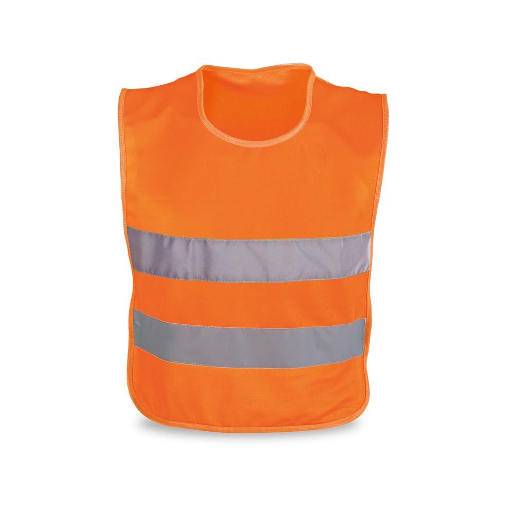 MIKE. Reflexní vesta pro děti - Oranžová