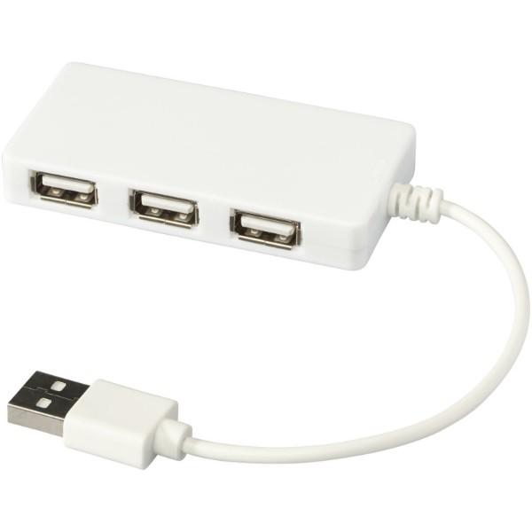 Brick 4-port USB hub - White