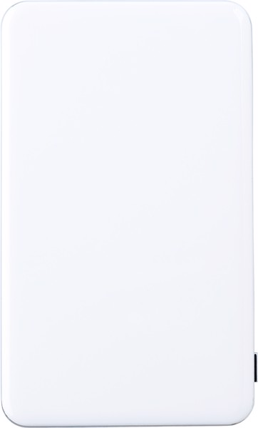 Powerbank 'Flatline' aus ABS-Kunststoff - White