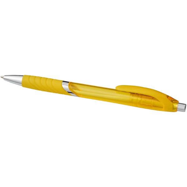 Kuličkové pero Turbo s gumovým úchopem - Žlutá