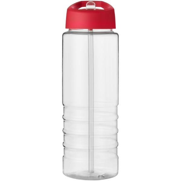 H2O Treble 750 ml sportovní lahev s víčkem s hubičkou - Průhledná / Červená s efektem námrazy
