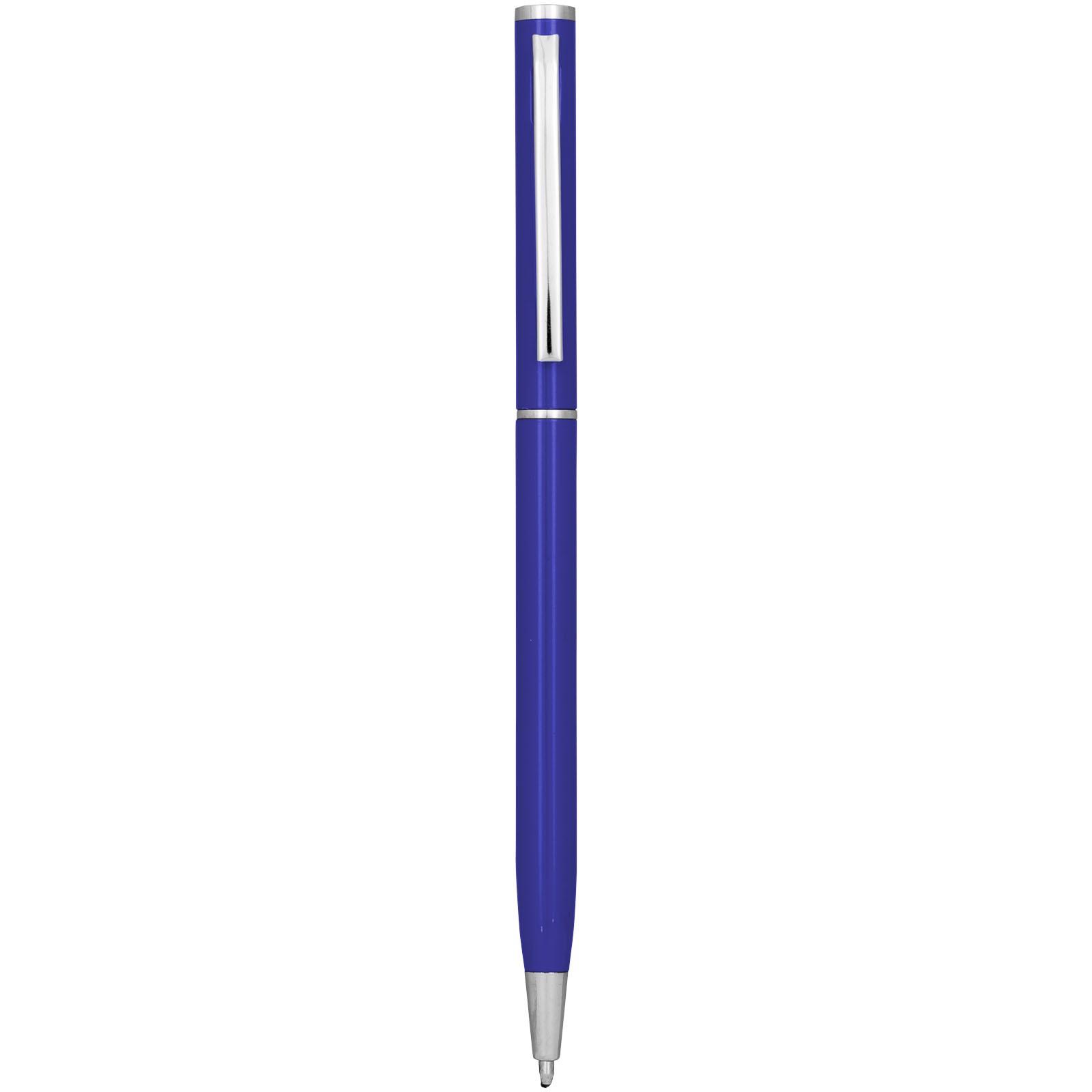 Slim aluminium ballpoint pen - Blue