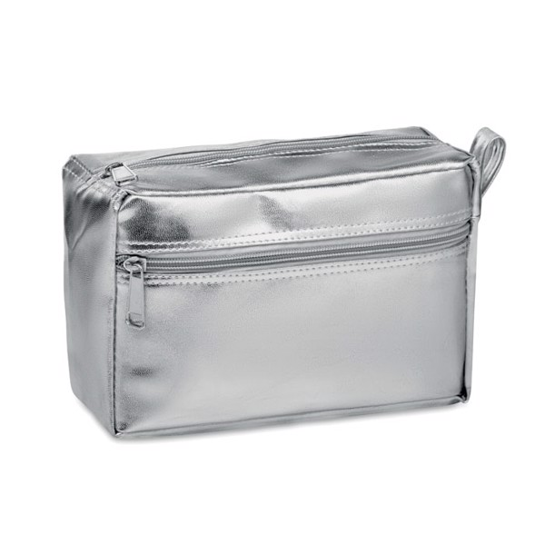 Cosmetic bag in shiny PVC Silene - Silver