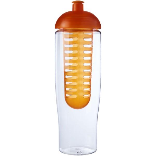 Sportovní láhev s infuzéremakupolovitým víčkem H2O Tempo® 700 ml - Průhledná / 0ranžová