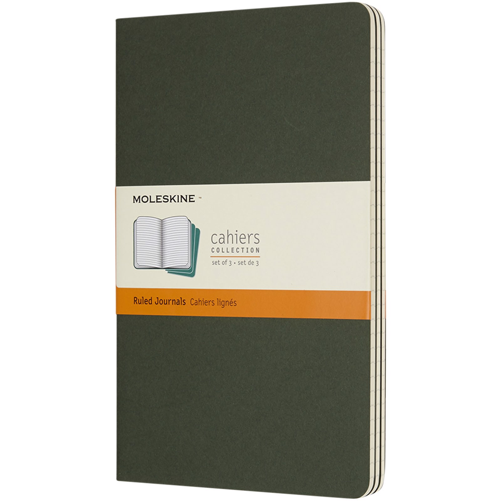 Cahier Journal L - ruled - Myrtle green