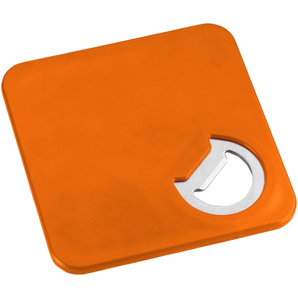 Robin 2-in-1 coaster and bottle opener - Orange