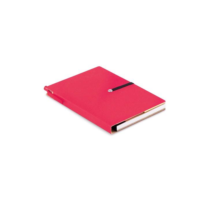 Libreta de papel reciclado Reconote - rojo