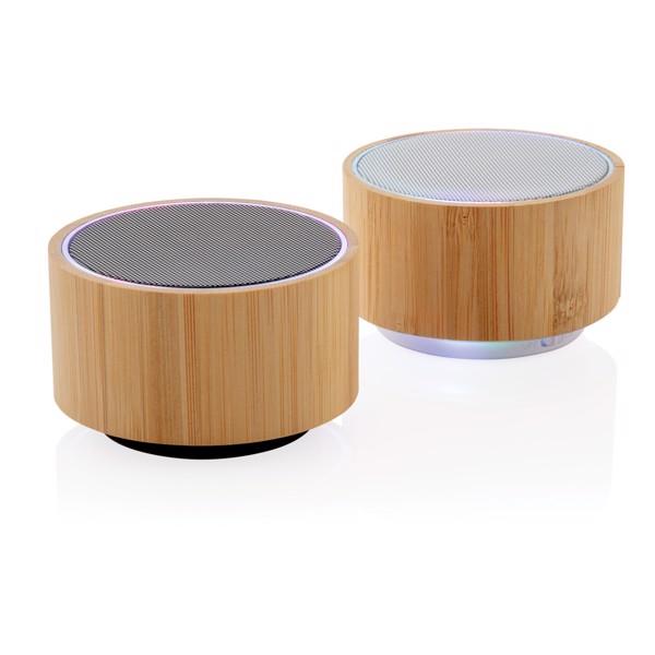 Bambusz vezeték nélküli hangszóró - Fehér / Barna