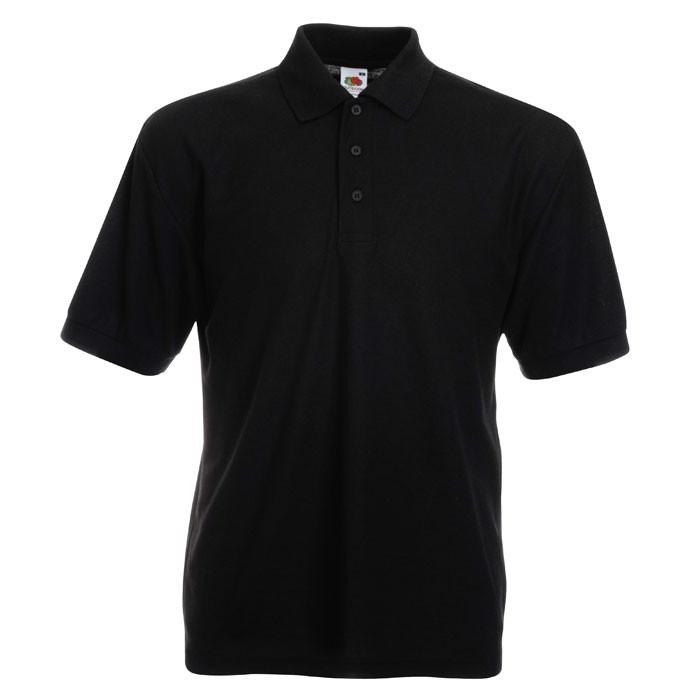 Męska Koszulka polo 170g/m 65/35 Blended Polo 63-402-0 - Czarny / Czarny opal / 3XL
