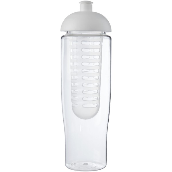 H2O Tempo® 700 ml dome lid sport bottle & infuser - Transparent / White