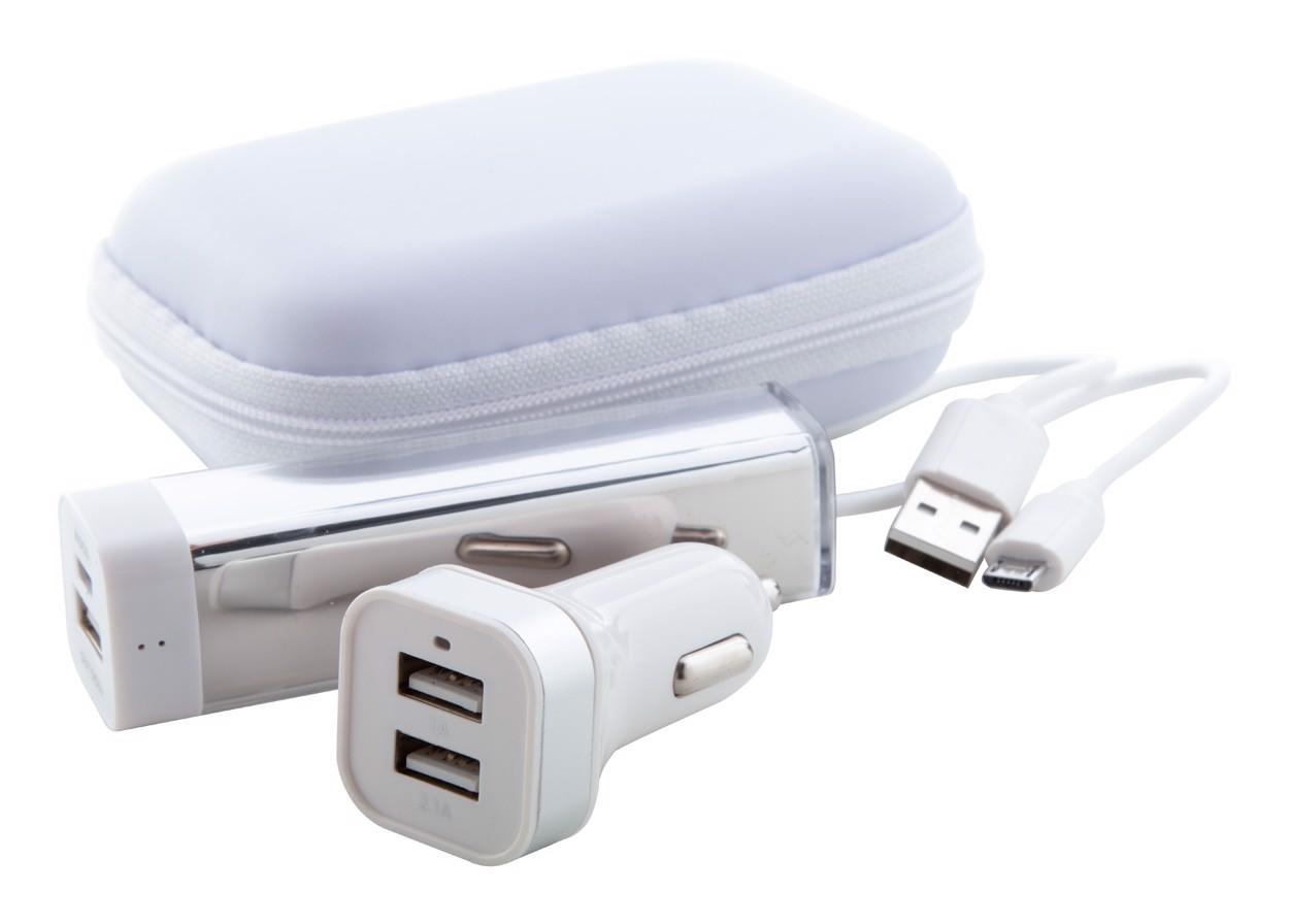 USB polnilna baterija Nacorap - bela/srebrna