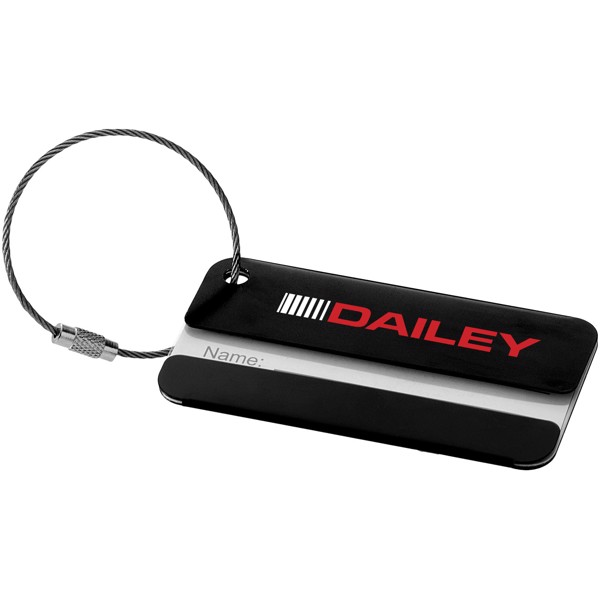 Discovery luggage tag - Solid black