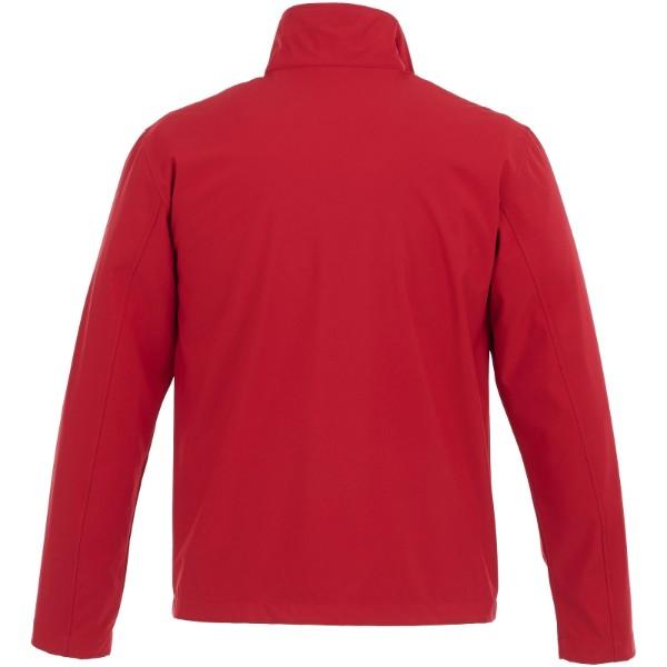 Karmine softshell bunda - Červená s efektem námrazy / XS