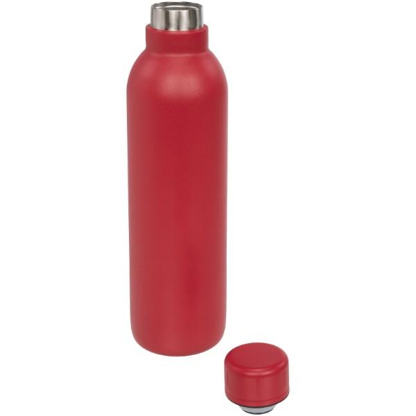 Vakuová sportovní termoska Thor 510 ml s měděnou izolací - Červená s efektem námrazy