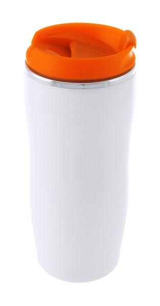 Termo Hrnek Zicox - Oranžová / Bílá