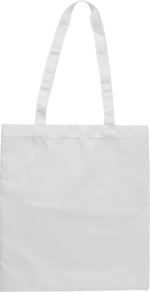 RPET polyester (190T) shopping bag - White
