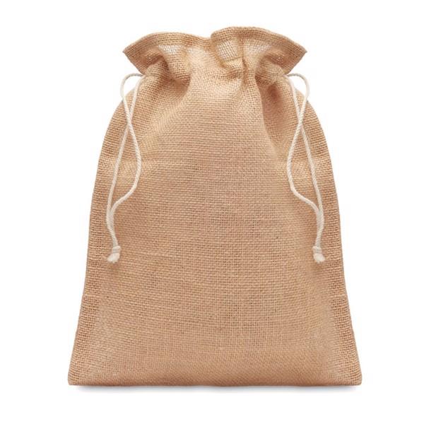 Small jute gift bag 14 x 22 cm Jute Small